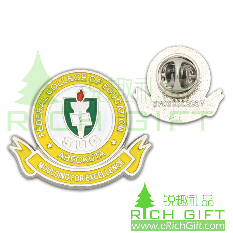 Customized metal pin badge for federal college of education
