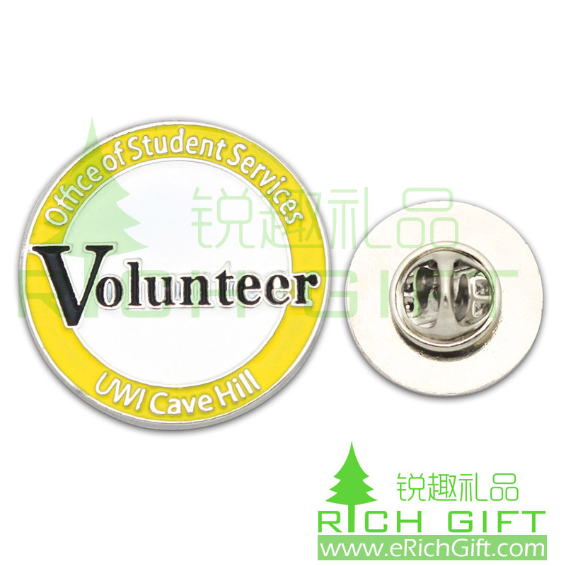 lron stamping badge for volunteer services