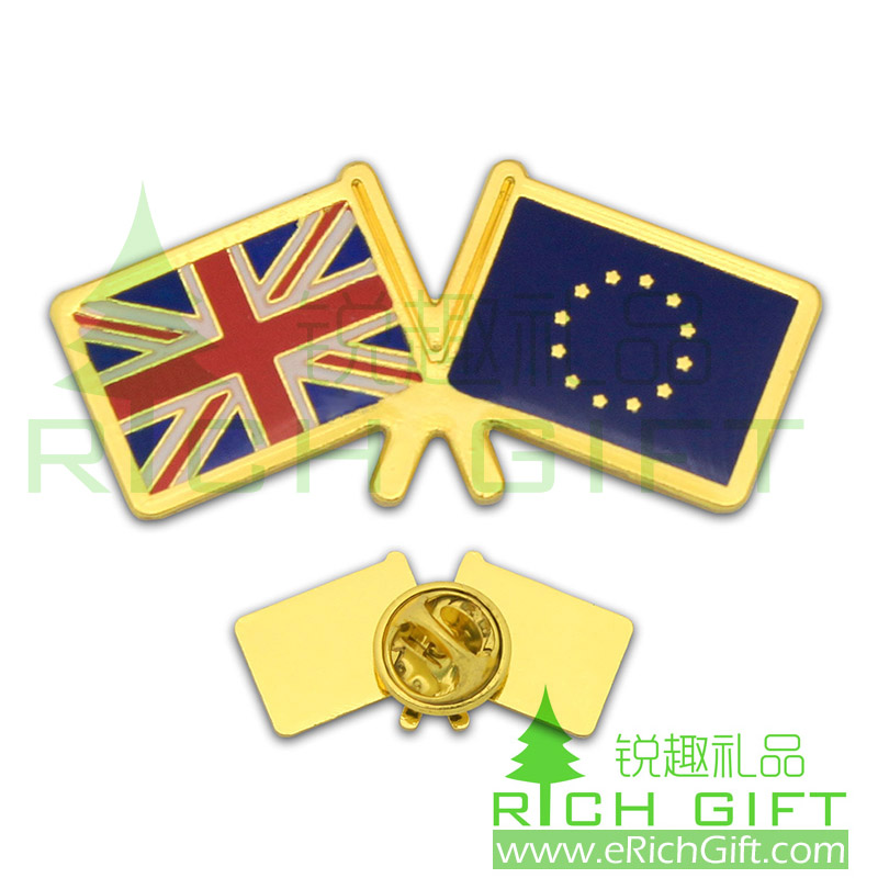 England National flag badge with golden color and soft enamel infilled