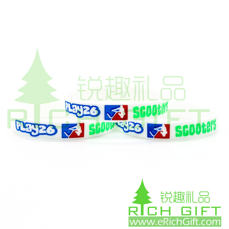 2016 Newest Custom Silicone wristbands for Scooters club