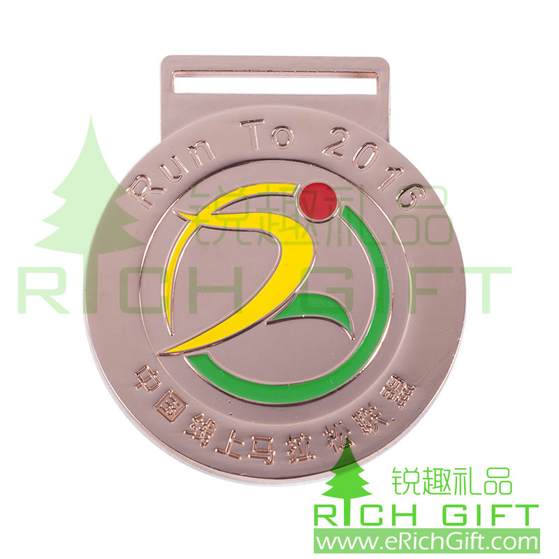 2016 new custom metal running sports medals of honor