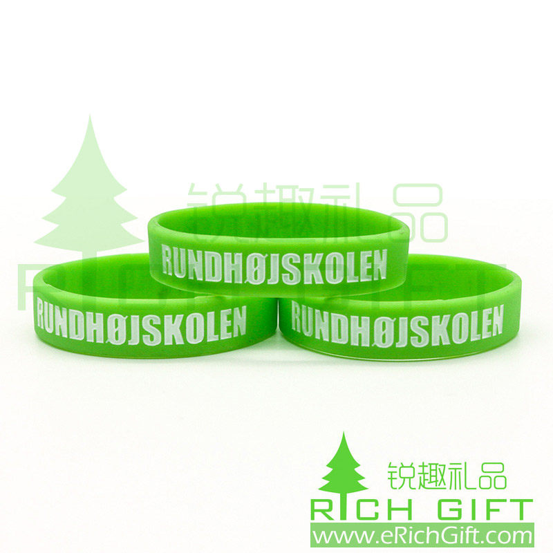 High quality Custom forest green Silicone Wristbands