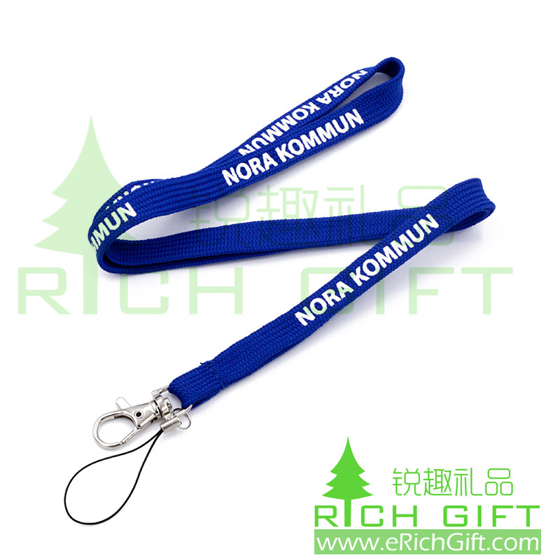Custom Tube Lanyard with Mobile Phone Strap