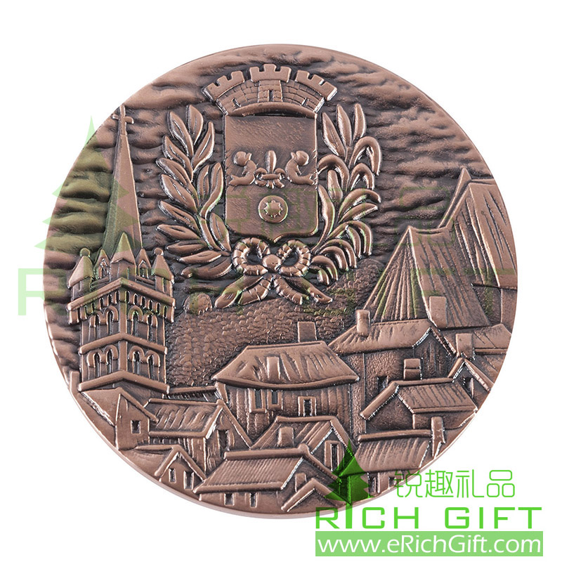 Custom Antique-Copper Challenge Coin