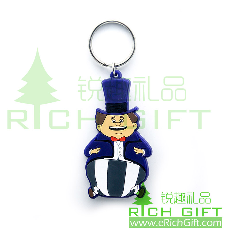 Custom character keychain made of PVC material