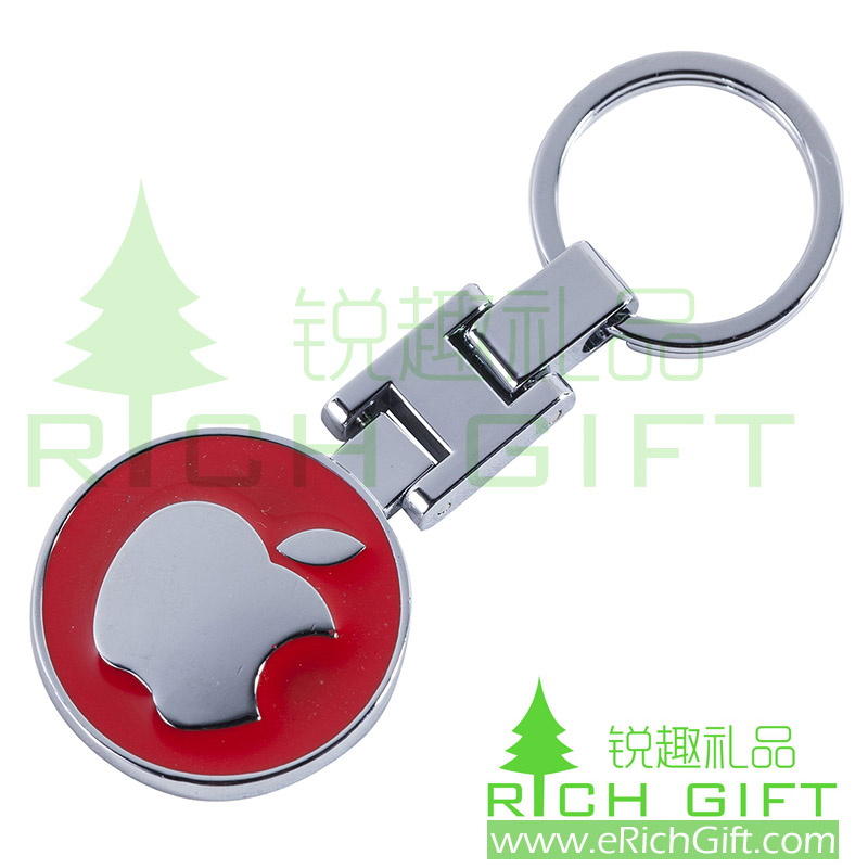 custom 3D metal keychain with Apple brand