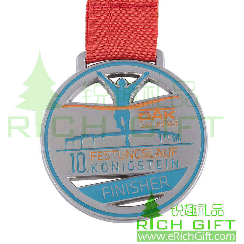 zinc alloy die casting sport medal for athletic contest round medallion