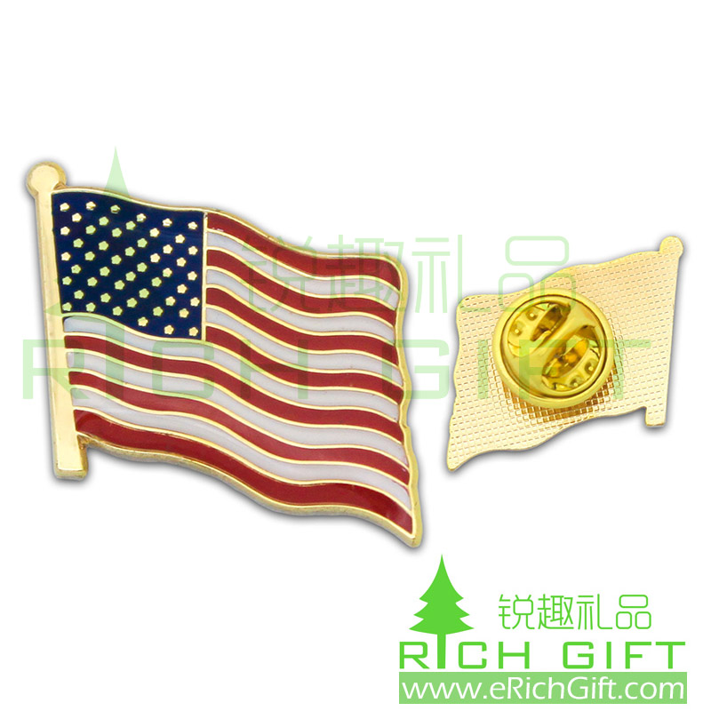 USA National Day gifts usa flag lapel pin badge or tie pin
