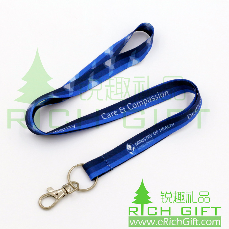 Promotional Gift Colorful Dye Sublimation Printed lanyard Custom lanyard