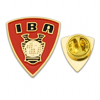 Custom IBA badge with soft enamel infilled