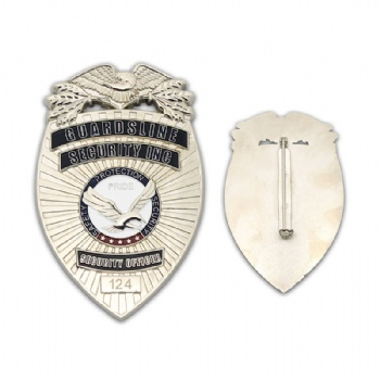 Security Officer metal lapel pin with 3D effect