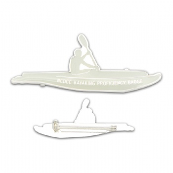 Silver plating badge for kayaking competion