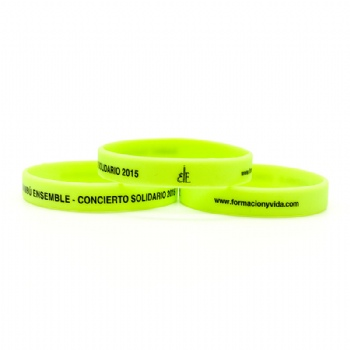 2016 High quality custom glow-in-dark wristbands for night activities