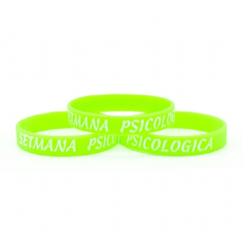 Fashion custom fluorescence Silicone wristbands for activities