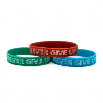 Fashion custom silicone writsbands with different band color