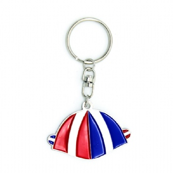Newest custom soft enamel keychain with totation effects