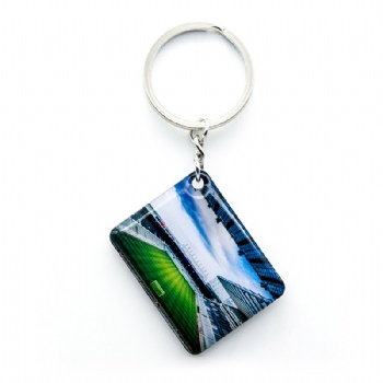 Promotional custom metal keyring with printing football