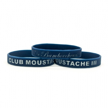Wholesale csutom Navy blue Silicone wristbands for club activities