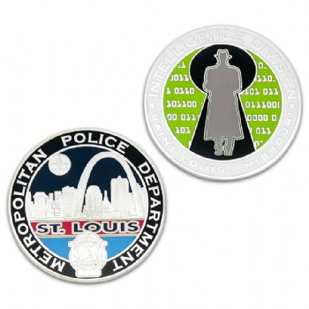 Custom Intelligence Division metal coin for Metropolitan Police Department