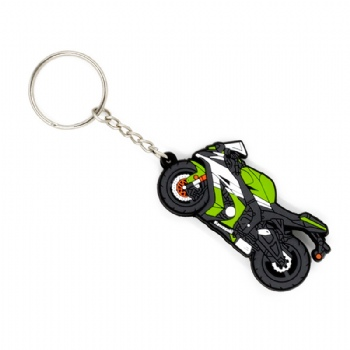 PVC 3D motorcycle shape keychain