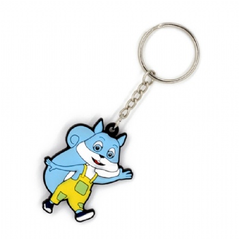 PVC 2D fox shape keychain