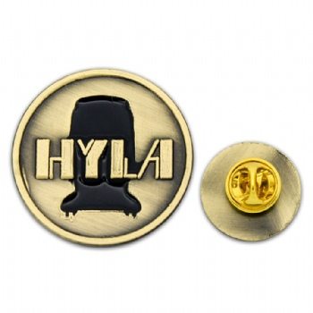 Antique gold plating-HYLA badge