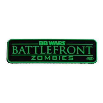 Custom PVC patch with saying BB WARS BATTLEFRONT ZOMBIES