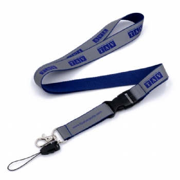 custom reflective screen printed lanyard with you own logo