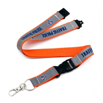 custom reflective screen printed lanyard with your own logo