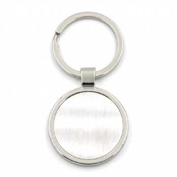 new style metal keychain with two rings