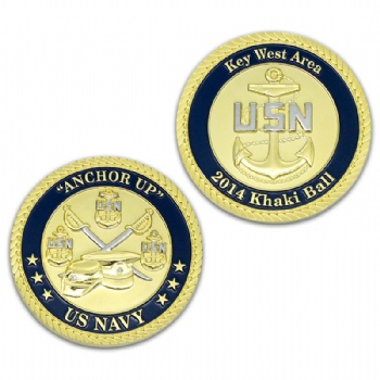 Custom Khaki ball coin for US navy of Key West Area