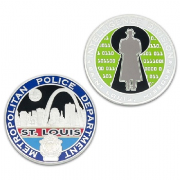 Custom personal metal coin for Intelligence Division of Missouri