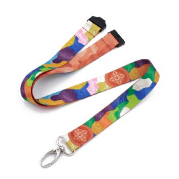 Promotional Gift fashional Dye Sublimation Printed lanyard Custom lanyard