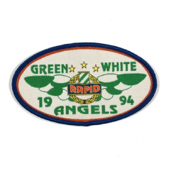 oval embroidery patch by customized with your own logo
