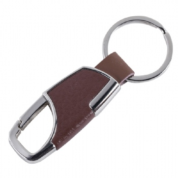 Special Metal Leather Hook Shaped Keychain