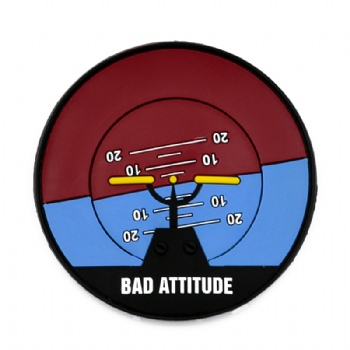 Custom Soft PVC Patch With Saying Bad Attitude