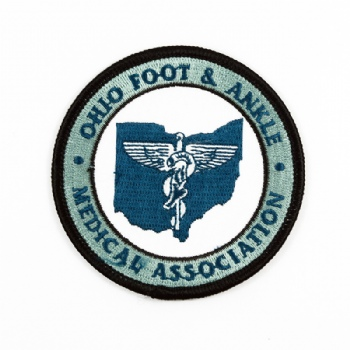 Customize Circular Shape Embroidery Patch for ohio foot&ankle medical association