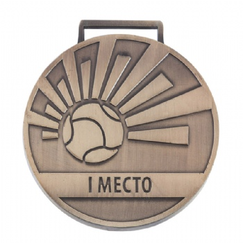 custom high quality 2D copper medal for football club