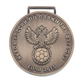 custom 2D antique-brass medal with free style
