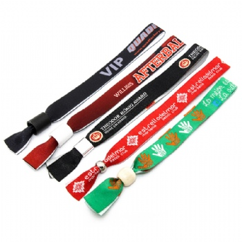 Fashionable Custom Woven Polyester Wristband