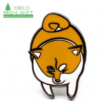 Free sample cheap custom metal lovely puppy animal badge hard enamel cute cartoon dog lapel pin for promotion