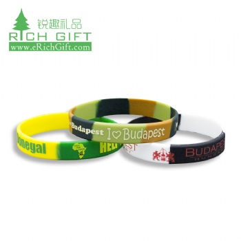 Wholesale cheap custom mixed color thermal printing motivational silicone bracelets wristband