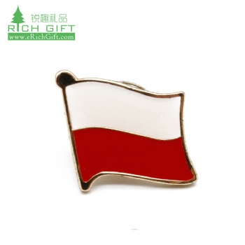 China manufacturers metal silver plated enamel epoxy country flag custom indonesia lapel pin for souvenir