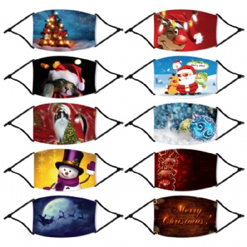 wholesale Dust Proof Custom Printed Designer halloween christmas party face mask With a variety of customizable patterns