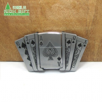 Fashion design logo custom wholesale metal poker belt zinc alloy belt buckles for sale