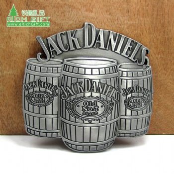 Custom buckle belt hardware design your own logo wine barrel metal belt buckle for mens belt