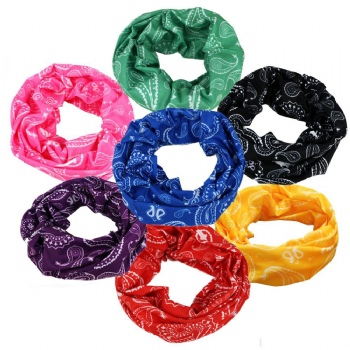 The Best Bandanas to Use Every Day-Customers Cotton Paisley Bandana Scarf Headband 3 Pack Red Yellow Black
