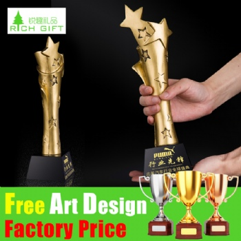 High Quality Promotional Resin Metal Sports Decoration World Champion Awards Gold Metal Zinc Alloy Cup Trophies
