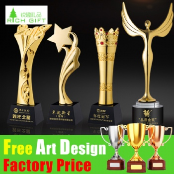 Wholesale Golf Basketball Football Baseball Cricket Table Tennis Metal Glass Badminton 3D Laser Engraving Sport Trophy Crystal Metal Trophy